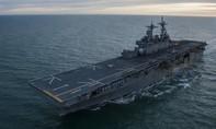 Siêu tàu đổ bộ tấn công của Mỹ tập trận chung với Hàn Quốc