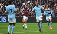 Thắng đậm West Ham, Man City áp sát kỷ lục của Chelsea