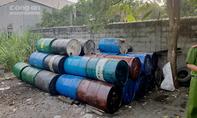 Tái chế chất thải nguy hại không phép ven Sài Gòn