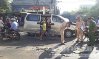 Xe tải va chạm xe du lịch, 6 người bị thương