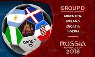 Bảng D: Gọi tên Argentina và Croatia?