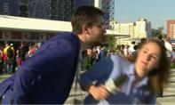 Thêm nữ phóng viên bị 'trai lạ' cưỡng hôn khi đưa tin World Cup