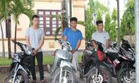 Nhóm đối tượng gây ra 7 vụ trộm xe máy sa lưới