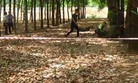 Phát hiện thi thể bị giấu vào bao tải trong rừng cao su