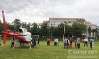 Trực thăng đã đưa 26 công nhân HAGL về nơi an toàn
