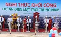 Khởi công dự án điện mặt trời lớn hàng đầu Việt Nam