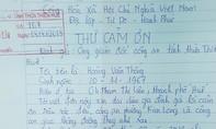Người dân viết thư cám ơn cảnh sát đã cứu sống người thân