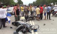 Hai xe máy tông nhau, 2 người tử vong, 1 người bị thương