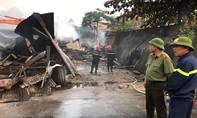Cháy chợ Còng tại Thanh Hóa, hàng chục gian hàng bị thiêu rụi