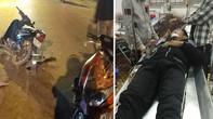 Một thành viên Đội xung kích bảo vệ trật tự đường phố bị tai nạn
