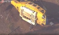 Clip rừng cháy ngùn ngụt ở Úc khiến trực thăng cứu hỏa rơi