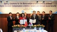 BHXH Việt Nam ký kết hợp tác với Hàn Quốc