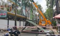 Sau phản ánh của Báo CATP, công trình chính thức bị cưỡng chế