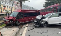 Tai nạn liên hoàn giữa 3 ô tô và 1 xe máy, nhiều người bị thương