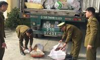 Xe container chở hơn 10 tấn nội tạng bốc mùi từ Nam ra Bắc