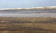 Quảng ngãi: 2 km bãi tắm nước đổi màu nâu đen, nghi có nhớt