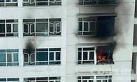 TPHCM: Cháy lớn tại chung cư Hoàng Anh Goldhouse