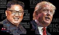 Tranh hai ông Kim - Trump được ghép từ hàng trăm bức ảnh