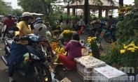 Họp chợ, xe dừng đậu vô tội vạ tại đường hoa ở TP.Biên Hòa