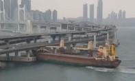 Thuyền trưởng say xỉn lái tàu hàng 6.000 tấn đâm vào cây cầu