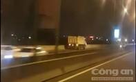 Tước bằng lái 5 tháng tài xế lái xe ben chạy ngược chiều trên cao tốc