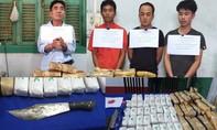 Bắt nhóm vận chuyển 110 ngàn viên ma túy, một chiến sĩ bị thương