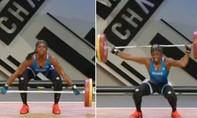 Clip nữ VĐV Pháp gãy tay trong lúc cố gắng nâng mức tạ 110 kg