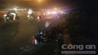Xe máy tông nhau tại đoạn đường thi công ì ạch, 3 người nhập viện