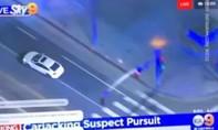 Hy hữu clip cảnh sát rượt đuổi được quay từ 3 góc khác nhau