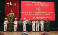 Bổ nhiệm nhiều lãnh đạo chỉ huy thuộc Công an tỉnh Đắk Nông