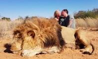 """Cặp đôi nhận """"bão"""" chỉ trích khi bắn chết sư tử rồi hôn nhau cạnh xác"""