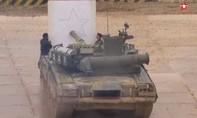 Clip lính xe tăng Nga trình diễn dùng nóng pháo... vẽ tranh