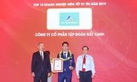 Đất Xanh đạt giải Top 10 công ty niêm yết uy tín năm 2019