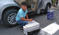 CSGT truy đuổi ô tô chở thuốc lá lậu