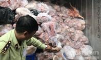 Bắt hàng chục tấn thịt heo thối giấu trong thùng container