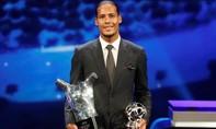 Vượt Messi và Ronaldo, Van Dijk giành giải cầu thủ hay nhất châu Âu