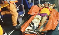 Cứu kịp thời thuyền viên Trung Quốc gãy chân do tai nạn trên biển