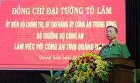 Bộ trưởng Tô Lâm làm việc với Công an tỉnh Quảng Nam