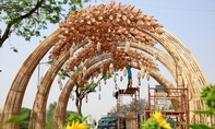 Bông lúa siêu to khổng lồ tại đường xuân Phú Mỹ Hưng