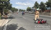 Xe máy tông chậu mai cảnh ở Sài Gòn, thanh niên nứt sọ, gãy 2 chân