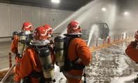Những hình ảnh ấn tượng trong buổi diễn tập PCCC tại hầm Thủ Thiêm