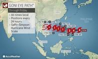Philippines ra lệnh sơ tán dân khi siêu bão Goni mạnh nhất năm tiến sát