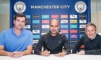 HLV Pep Guardiola gia hạn với Man City