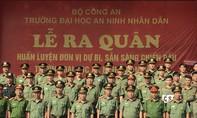 Trường ĐH An ninh nhân dân ra quân huấn luyện đơn vị dự bị chiến đấu