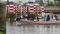 Tìm thấy thi thể phụ nữ và chiếc ghe bị sà lan tông chìm trên sông Sài Gòn