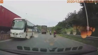 Đồng Nai: Xe khách Kim Mạnh Hùng đi ngược chiều trên QL1