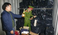 Bắt giữ xe container chở hơn 1500 chai rượu lậu, trị giá 1,7 tỷ đồng