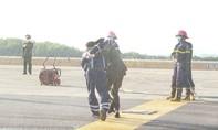 Sân bay Vân Đồn diễn tập xử lý tình huống khẩn nguy