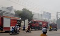 Cháy xưởng cơ khi giữa giờ nghỉ trưa