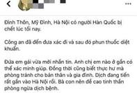 Bác thông tin người đàn ông Hàn Quốc tử vong tại Hà Nội